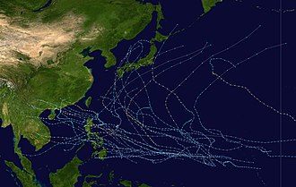 1993 Pacific typhoon season - Image: 1993 Pacific typhoon season summary