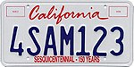 1998 California license plate 4SAM123.jpg