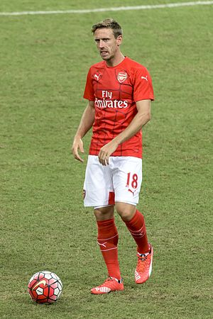 Nacho Monreal - Monreal warming up with Arsenal in 2015