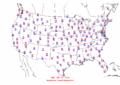 2003-09-11 Max-min Temperature Map NOAA.png
