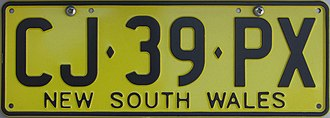 Vehicle registration plates of Australia - New South Wales