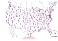 2006-03-09 Max-min Temperature Map NOAA.png
