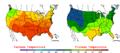 2006-05-26 Color Max-min Temperature Map NOAA.png