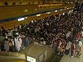 2008 ING Taipei Marathon crowded runners at MRT Taipei City Hall.jpg