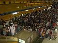 2008 ING Taipei Marathon crowded runners at MRT Taipei City Hall.jpg
