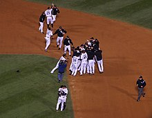 2008 MLB AL Central Tiebreaker Celebration.JPG