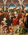 2011-03-26 Aschaffenburg 035 Schloss Johannisburg, Staatsgalerie, Anonymer Meister aus der Werkstatt Lucas Cranach d.Ä. - Die Heilige Sippe (6090779133).jpg