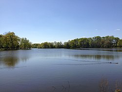 2013-05-04 15 35 59 View west across Colonial Lake in Lawrence Township in New Jersey.jpg