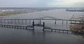 2014-05-07 16 26 18 View of the Newark Bay Bridge from an airplane heading for Newark Airport-recropped.jpg
