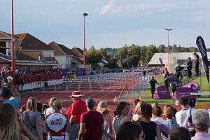 2015 Island Games - 110m hurdles men finals at FB Fields on 30 June 2015.