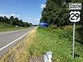 2016-09-06 12 24 34 View south along U.S. Route 29 (James Monroe Highway) just south of U.S. Route 15 (James Madison Highway), just southwest of Culpeper in Culpeper County, Virginia.jpg