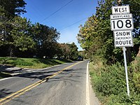2016-10-14 11 09 44 View west along Maryland State Route 108 (Damascus Road) at Maryland State Route 650 in Etchison, Montgomery County, Maryland.jpg