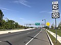 2018-10-01 11 11 09 View west along U.S. Route 30 and north along U.S. Route 130 (Crescent Boulevard) at Camden County Route 628 (South Park Drive) in Camden, Camden County, New Jersey.jpg