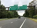 2018-10-10 08 54 10 View west along Interstate 66 at Exit 66B (Virginia State Route 7 WEST - Leesburg Pike, Tysons Corner) in Pimmit Hills, Fairfax County, Virginia.jpg