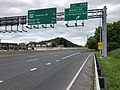 2019-05-17 13 00 11 View west along Interstate 68 and U.S. Route 40 and south along U.S. Route 220 (National Freeway) at Exit 43A (Beall Street, TO Ridgeley, WV) in Cumberland, Allegany County, Maryland.jpg