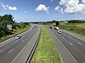 2019-07-24 11 10 26 View west along Interstate 70 and U.S. Route 40 (Baltimore National Pike) from the overpass for Maryland State Route 144 (Old National Pike) in Ballenger Creek, Frederick County, Maryland.jpg