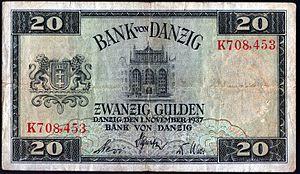 Danzig gulden - Image: 20 gdanskich guldenow skan