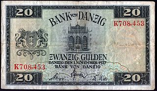Danzig gulden currency of the Free City of Danzig between 1923 and 1939