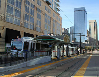 20th & Welton station - The 20th and Welton light rail station in Downtown Denver.