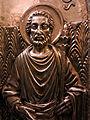 220 Basílica de Montserrat, porta d'argent de pujada a la cambra del tron, Sant Josep.JPG