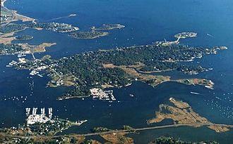 Mason's Island - Mason's Island aerial view