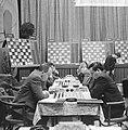 28e Hoogoven schaaktoernooi te Beverwijk, overzicht van de speelzaal, Bestanddeelnr 918-6678.jpg