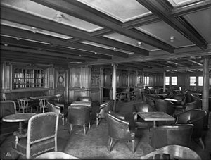 Second and Third-class facilities on the RMS Titanic - 2nd Class Smoking Room
