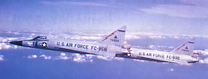482d Fighter-Interceptor Squadron - 482d FIS F-102s 57-0856 57-0832 at Seymour Johnson AFB, North Carolina, about 1960