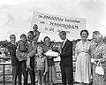 500000ste bezoeker aan Madurodam, de familie Welgemoed uit Hilversum wordt in d, Bestanddeelnr 911-4728.jpg