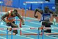 60 m hurdles Sedoc Doucouré Turin 2009.JPG