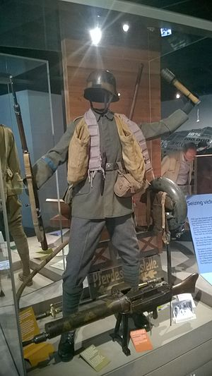 German Army (German Empire) - Late WWI uniform of the 73rd Fusilier Regiment at the Imperial War Museum in London