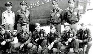 RAF Hardwick - B-24 Liberator 41-23754 'Little Lady' lost on Ploesti raid 1st Aug 1943. Crew interned in Turkey where it crash landed.