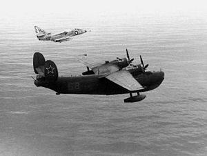VA-93 (U.S. Navy) - VA-93 A-4 intercepts a Soviet Be-6 near Japan in 1964