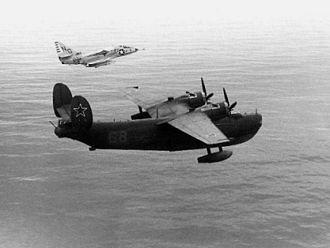 Beriev Be-6 - A U.S. Navy A-4B intercepting a Be-6 off Japan, 1964.