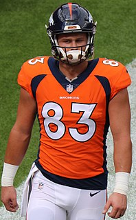 A. J. Derby American football tight end