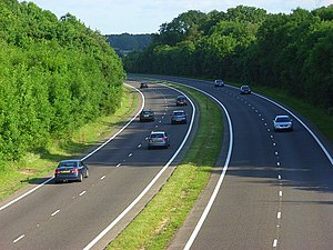 A33 road - Image: A33, Spencers Wood