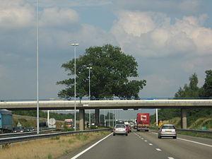 A58 motorway (Netherlands) - A58 near Breda