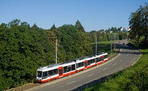 St. Gallen–Trogen railway line - Image: AB Be 4 8 Trogenerbahn Rank Vögelinsegg