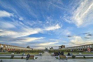 Historical square at the center of Isfahan city, Iran