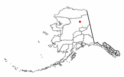 Location of Venetie, Alaska