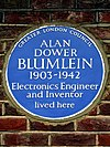 ALAN DOWER BLUMLEIN 1903-1942 Electronics Engineer and Inventor lived here.jpg