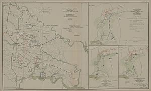 Seven Days Battles - Seven Days Battles: map of events (left side)