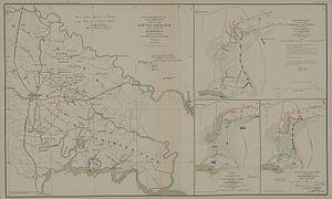 Seven Days Battles - Seven Days Battles: map of events (left side)