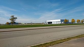 Appleton International Airport - Main Gulfstream ramp at airport