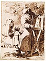 A Bearded Monk Showing a Portable Altar to a Praying Child, with an Old Woman Kneeling MET DT3190.jpg