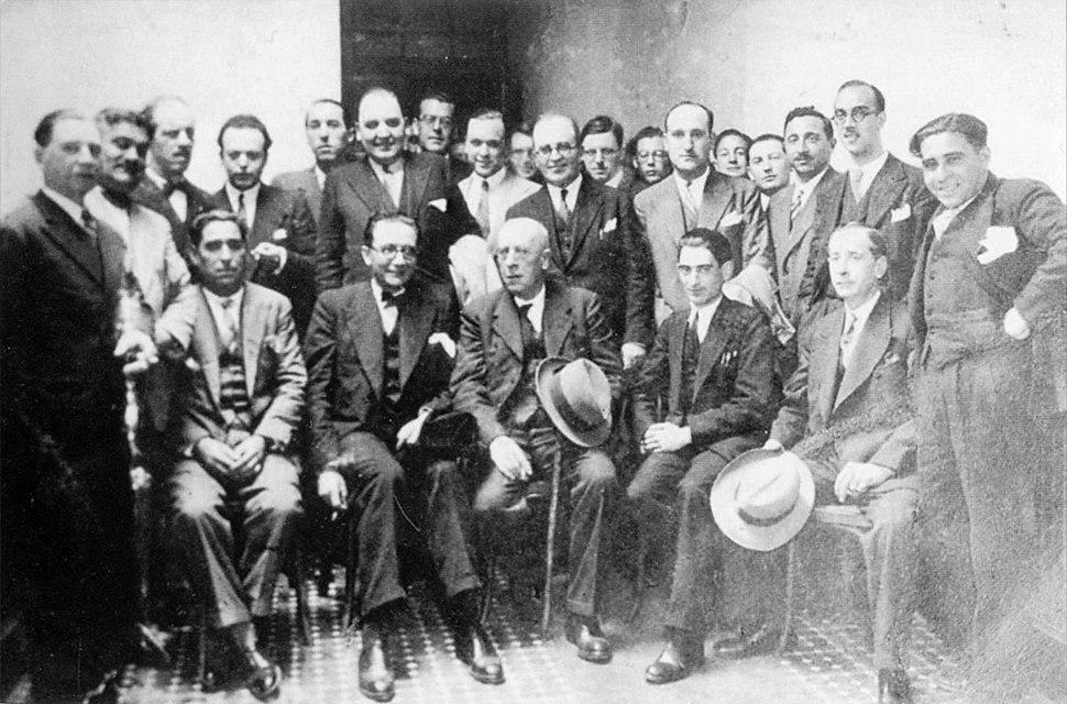 A Coruña. Antón Villar Ponte, Castelao, Lugrís Freire, Plácido Castro...