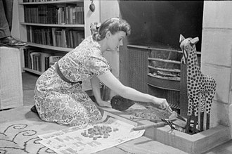 Housekeeping - Part of the housework of a London housewife, 1941