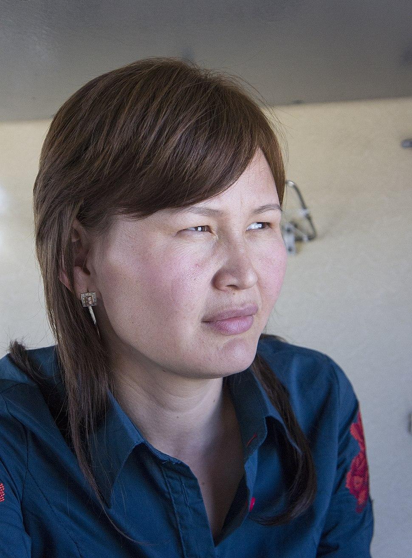 A Kazakh woman