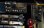A Sailor organizes ordnance on the flight deck. (40396516612).jpg