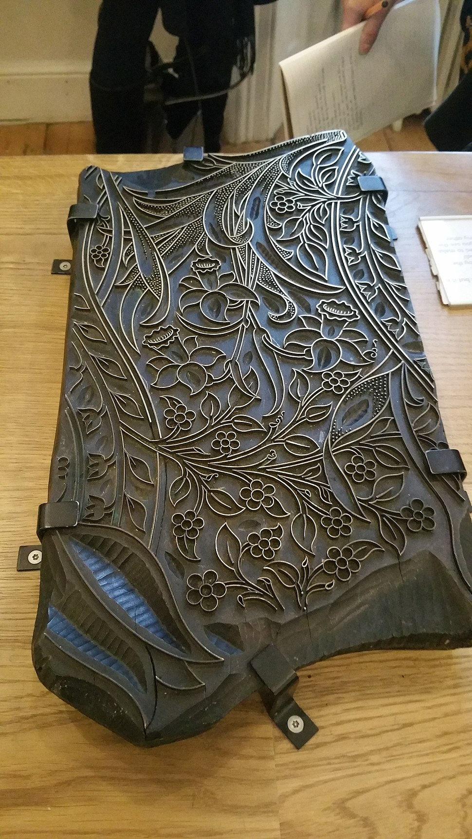 A Wooden Pattern for Textile Printing from William Morris's Company